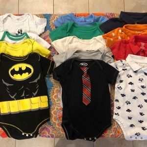 SOLD!!!  12 Boy Onesies 18M